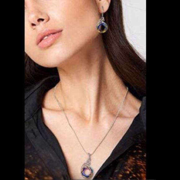 897b56368 kate lynn Jewelry | Nirvana Of Phoenix Crystal Necklace Earrings Set ...